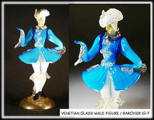 VINTAGE VENETIAN GLASS MALE FIGURE c.1950's