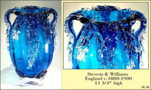 VICTORIAN STEVENS & WILLIAMS ART GLASS VASE