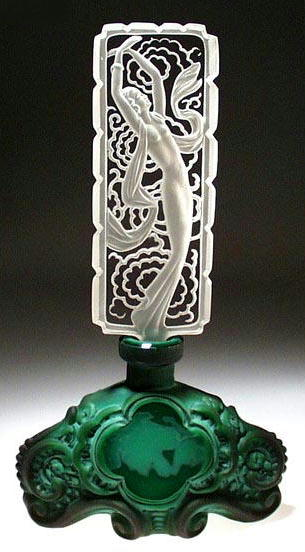 CZECH JADE COLOR HOLLYWOOD STAR PERFUME BOTTLE