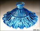 Femme au Naturel Aqua blue glass perfume bottle