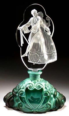 CZECH RENAISSANCE DANCERS FIG PERFUME BOTTLE