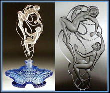 CZECH DECO PERFUME BOTTLE NUDES & PEARLS