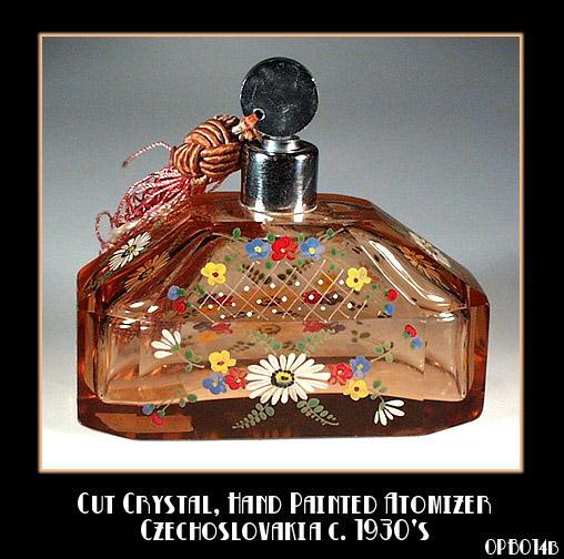 CZECH ENAMELED PERFUME ATOMIZER 1920'S