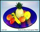 SIGNED STUDIO ART GLASS FRUIT / STRAWBERRY