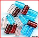 CZECH VINT COLOR GLASS BEADS ASSORT 20mm #161