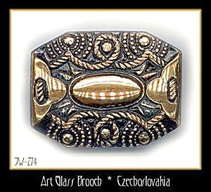 CZECH VINTAGE VICTORIAN STYLE BROOCH #274