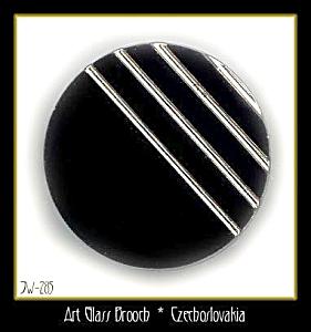 CZECH VINTAGE ART DECO STYLE BROOCH #285