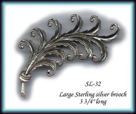 VINTAGE STERLING SILVER BROOCH SL032