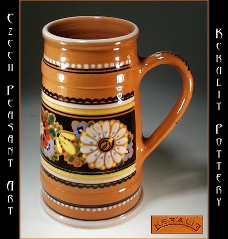 CZECH PEASANT ART POTTERY BEER STEIN CP-16