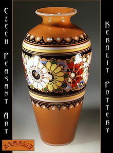 CZECH PEASANT ART POTTERY VASE CP-19