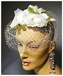 GREAT VINTAGE WHITE ROSES LADIES HAT 40's #15