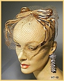 GREAT VINTAGE TAN SILK LADIES HAT 1940's #16