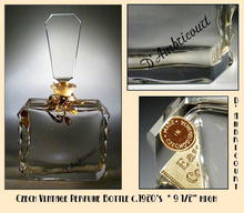 HUGE SGND CZECH VINTAGE PERFUME BOTTLE