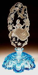 CZECH FIGURAL AQUA SUMMERTIME PERFUME BOTTLE