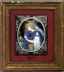 EXQUISITE ANTIQUE LIMOGES ENAMEL PLAQUE / MS016