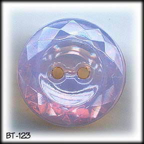VINTAGE PINK OPALINE CUT GLASS BUTTON BT123