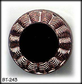 4 COPPER LUSTER GLASS BUTTONS 20's BT243