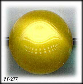 6 VINTAGE YELLOW GLASS BALL BUTTONS 40's BT277