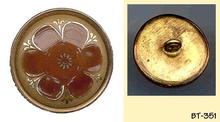 2pc ENAMEL IN METAL FLOWER BUTTON BT351
