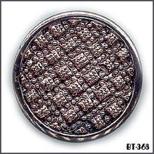 6 BLACK VINT METALLIC GLASS BUTTONS 30's BT368