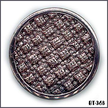 6 BLACK VINT METALLIC GLASS BUTTONS 30's BT368