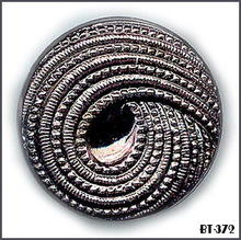 4 VINT BLACK METALLIC GLASS BUTTONS 30's BT372