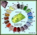 ART DECO CUT GLASS BUTTONS 12 COLORS BTS164-82E