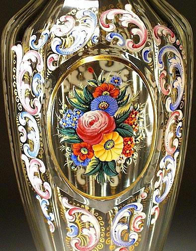 ANTIQUE MOSER LOBMEYR VASE c.1890 / CG033