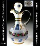 OVERLAY CUT TO BLUE CRUET CZECHOSLOVAKIA 1930's