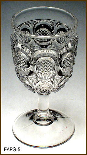 CANE HORSESHOE CORDIAL US GLASS EAPG 014