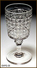 KINGS BLOCK CORDIAL US GLASS 1891 EAPG 035