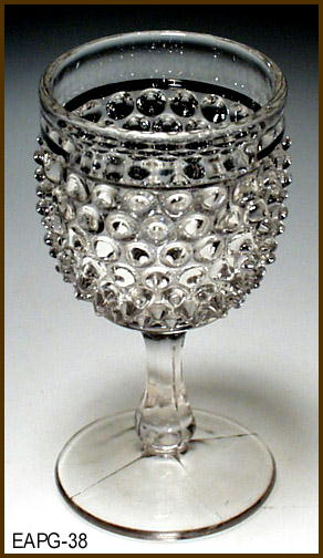 HOBNAIL CORDIAL McKEE GLASS  EAPG 038