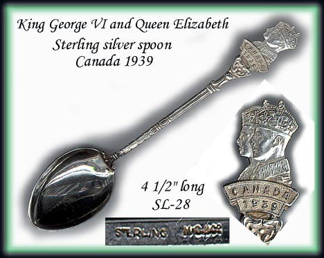 1939 KING GEORGE STERLING SPOON SL028