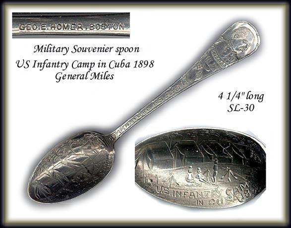 US INFANTRY SPOON / GEN. MILES CUBA 1898. SL030