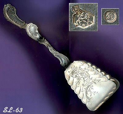 EXQUISITE DUTCH ROCOCO SILVER DESSERT SERVER