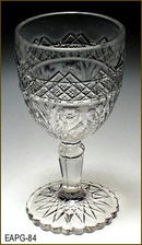EARLY AMERICAN PATTERN GLASS HORSEMINT ??? CORDIAL EAPG 084