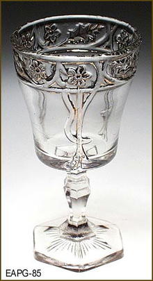 EARLY AMERICAN PATTERN GLASS SILVER ANNIVERSARY ??? CORDIAL EAPG 085