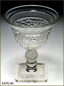EARLY AMERICAN PATTERN GLASS ??? WINE EAPG 086