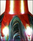 BOHEMIAN ART GLASS VASE / RINDSKOPF 1900