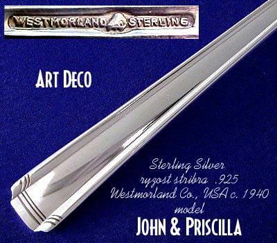 STERLING SILVER JOHN & PRISCILLA WESTMORLAND 52