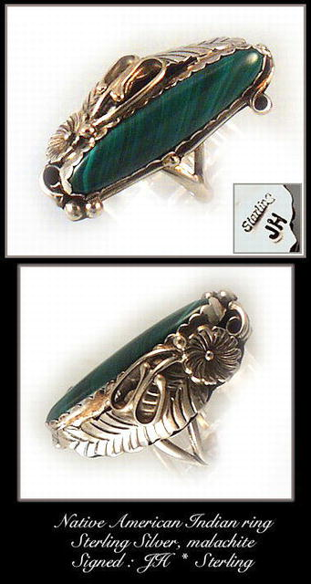 VINTAGE SIGNED AMERICAN INDIAN SILVER RING #72
