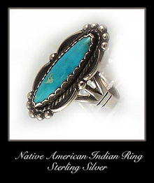 VINTAGE SIGNED AMERICAN INDIAN SILVER RING #73