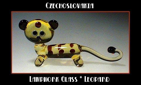 CZECH DRAWN GLASS LEOPARD