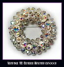 GLITTERING AB VINTAGE WREATH BROOCH CJ-38