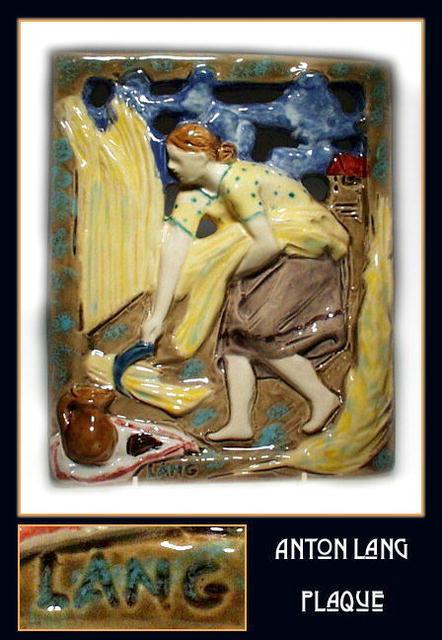 ANTON LANG ARTS & CRAFTS ART POTTERY WALL