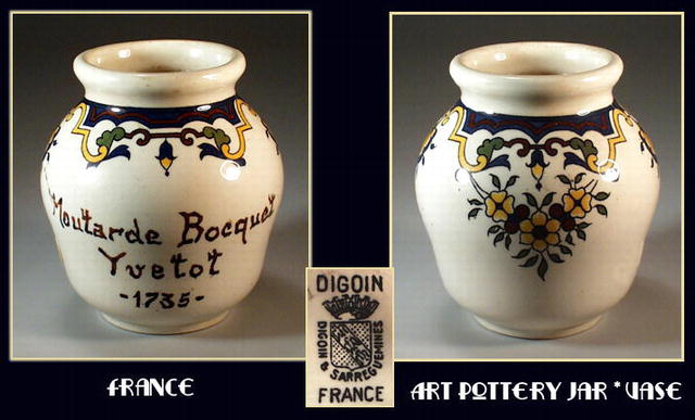 FRENCH ART POTTERY JAR / VASE / PT083