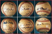 SIGNED VINTAGE BASEBALL 20 SIGNATURES / SP001