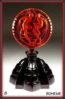 CZECH DECO PERFUME BOTTLE RED SIRENS / NPB005
