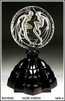 CZECH ART DECO SIRENES PERFUME BOTTLE
