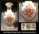 CZECH VINTAGE PORCELAIN PERFUME BOTTLE